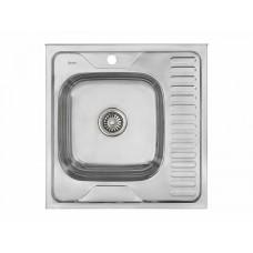 Мойка накладная 606016/0,6 1Ч1К (левая), цвет: Глянец